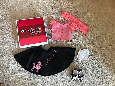 AMERICAN GIRL DOLL MARYELLEN'S POODLE SKIRT SET OUTFIT with Box