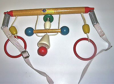 Vintage Childhood Interests Right Time Toy Wood Baby Crib Cradle Gym
