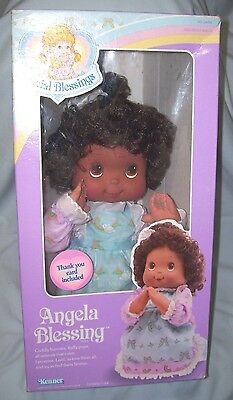 """1988 Kenner 16"""" tall Angela Blessing African American Praying Doll kneels & sits"""