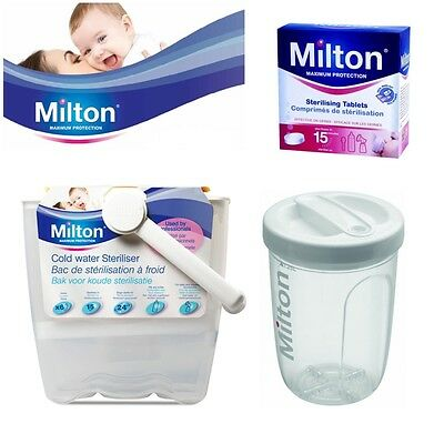 Milton Baby Utensils Cold Water Steriliser / Solo Travel Steriliser / 28 Tablets