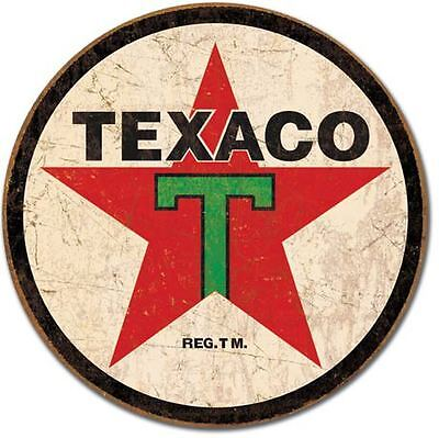 "Vintage 1936 Texaco Oil Company Tin Sign 12"" x 12"""