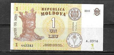 Moldova 2015 Unc  Mint Leu New Currency Banknote Bill Note Paper Money