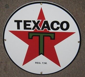 "15"" Texaco Porcelain Metal Sign    Nr"