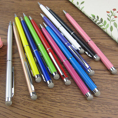 5 x 2 in 1Ball Pen Micro-Fibre Tip STYLUS PEN for ALL Moble Phones,Tablet,IPAD