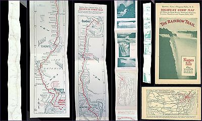 Highway Strip Map Booklet Map The Rainbow Trail Quebec, Can. to Niagra Falls NY