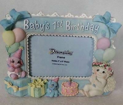 Dreamsicles Baby's 1st Birthday Picture Photo Frame New