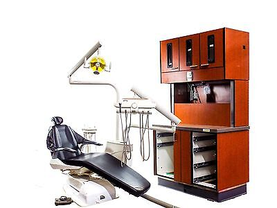 Bel-20 Dental Exam Chair w/ Delivery, Light, & Midmark 12 O'Clock Cabinet