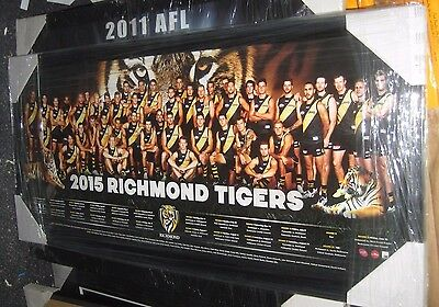 2015 Richmond FC team poster - framed -perspex.  Official AFL licensed product.
