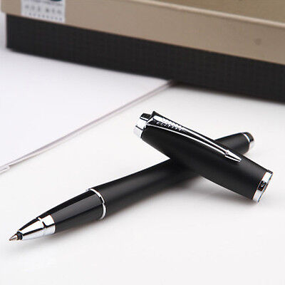 High Quality Urban Premium Rollerball Pen Silver Trim+Black Refill Metallic