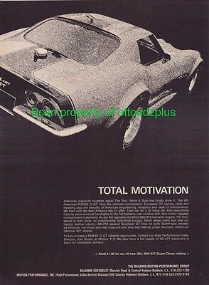 1969 Chevrolet Corvette 427 - Baldwin Motion Phase III GT - Total Motivation ad!