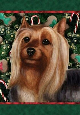 Large Indoor/Outdoor Holiday Flag - Silky Terrier 14102