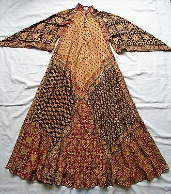 Vintage 70s Indian cotton dress - block print - India Imports label - one size