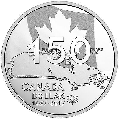 2017 Canada 150th Our Home and Native Land Special Ed. Fine Silver Proof Dollar