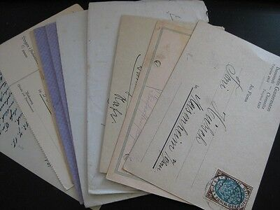 DEUTSCHES REICH very nice lot of 10 different cards and covers!