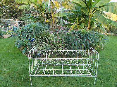 Antique French Single Bed Iron Day Cot Bed Garden Seating Conservatory Sunroom