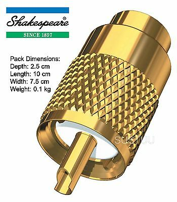 Shakespeare Gold-plated PL259 Connector - RG8/AU & RG213 Cable