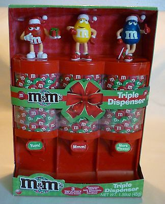 2011 M&m Triple Candy Dispenser New In Package