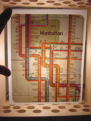 "1970's Vintage Original ""Manhattan Subway"" Iron-on Transfer Unused"