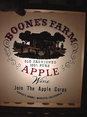 1970's Vint Orig Boone's Farm 100% Pure Apple Wine Iron-On Transfer Unused