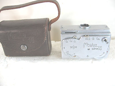 Mamiya Super 16 16mm Subminiature Spy Camera with Case, working, made in Japan