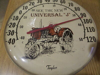"Vintage Taylor Advertising Thermometer Farm Tractor Universal ""J"""