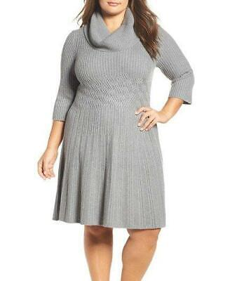 Eliza J Knit Fit Flare Dress Sz 1x 6040 Picclick