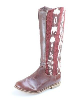 Reef NEW Red Shoes Size 7M Zipper Stich Mid-Calf Leather Boots $180- #459 DEAL