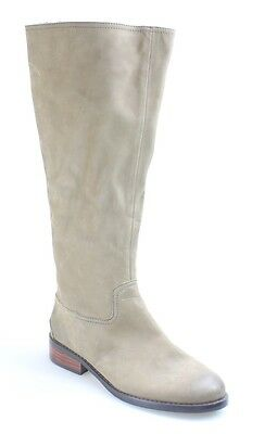 Halogen NEW Beige Shoes 7M Stich Zipper Knee-High Leather Boots $199- #460 DEAL