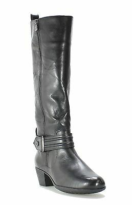 Nurture NEW Brooks Black Shoes 9M Knee-High Side-Zip Leather Boots $100- #666