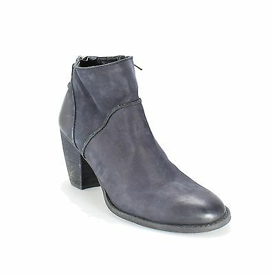 Tesori Black Shoes 8M Ankle Side Zipper Suede Round Toe Heel Boots $129- #717