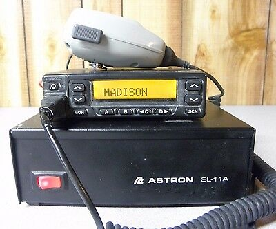 Kenwood TK-980 Mobile Radio Transceiver 800 Mhz with Astron SL-11A Power Supply