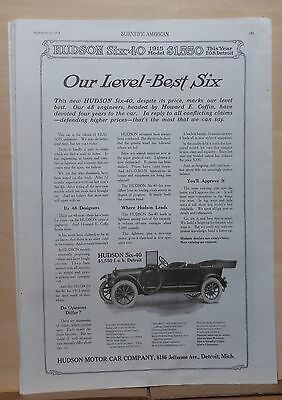 1914 magazine ad for Hudson - Six-40, 48 designers & Howard Coffin, Level Best