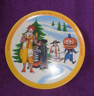 Collectible Advertising Ronald McDonald,Hamburger,Big Mac Plate-Dated 1977