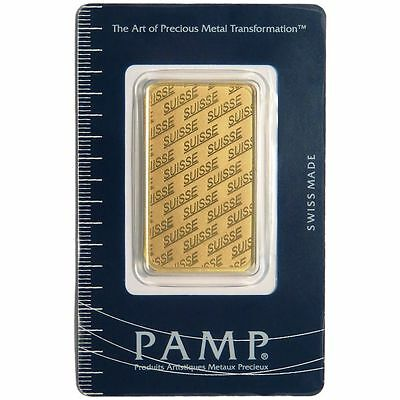1 ounce Gold Bar ~ PAMP Suisse Gold Bar (In Assay)~ STARTS AT 1c ~ GORGEOUS!