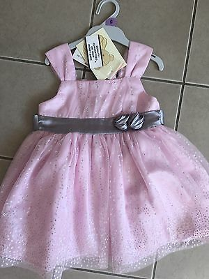 Baby Girls PARTY DRESS And Matching Nappy Cover Pants Size 0 Brand New With Tags