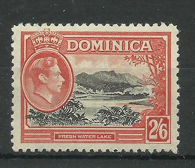Dominica 1938 Sg 107, 2/6d Black & Vermilion, Lightly Mounted Mint. [645]