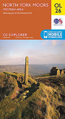 OL26 North Yorkshire Moors Western Area  Ordnance Survey Explorer Map OL 26