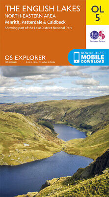 OL5  Lake District North Eastern Lakes Ordnance Survey Explorer Map OL 5