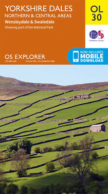 OL30 Yorkshire Dales Northern & Central Ordnance Survey Explorer Map OL 30