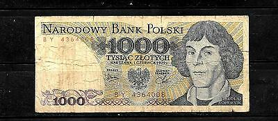 POLAND POLISH #146b 1979 VG USED OLD 1000 ZLOTYCH BANKNOTE BILL NOTE PAPER MONEY