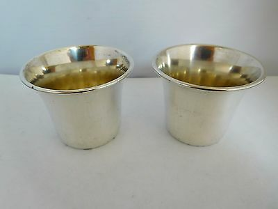 Good Pair Of Antique American Solid Sterling Silver Stirrup Cups