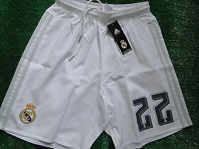 REAL MADRID HOME SHORTS  2015-16 SIZE SMALL BNWT Number 22