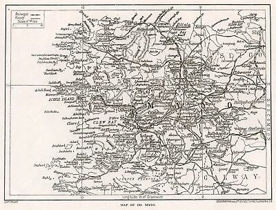 1923 map of Ireland: County Mayo antique ready-mounted print SUPERB