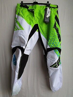 """YOUTH motocross pants FLY KINETIC TRIFECTA size 24, lime/wht 369-43524 waist 26"""""""