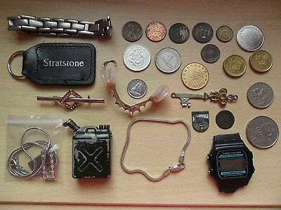 Coins tokens & trinkets - incl. silver - beach metal detecting finds