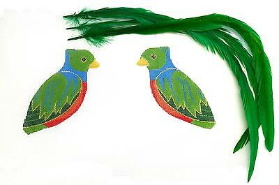 SP.ORDER ~ Quetzal Tropical Bird handpainted Needlepoint Canvas Labors of Love