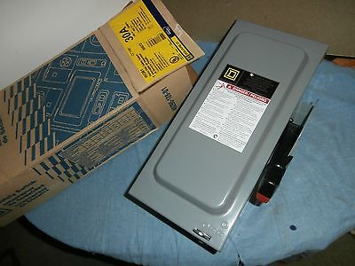 New Square D Hu361 Heavy Duty Safety Switch 30A Type 3R