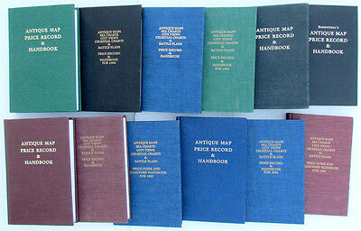 Group of  12  REFERENCE BOOKS ON ANTIQUE MAP PRICE RECORD & HANDBOOKS REFERENCE
