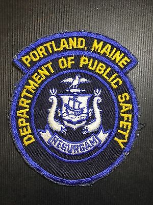Portland Maine Dept Of Public Safety  Shoulder Patch Old Rare