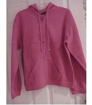 Women's hoodie sweatshirt zippered pink size extra large brand new with tags